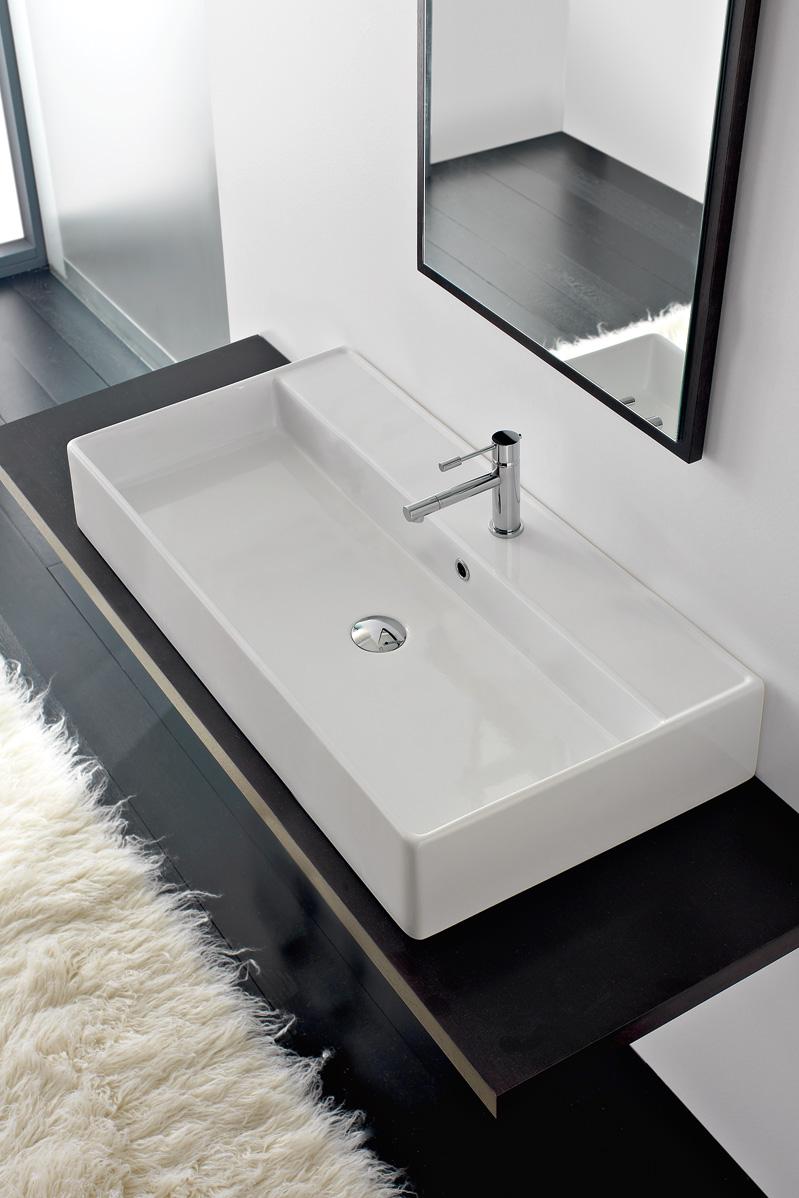 lavabo 100 x 46 cm teorema 100r a. Black Bedroom Furniture Sets. Home Design Ideas