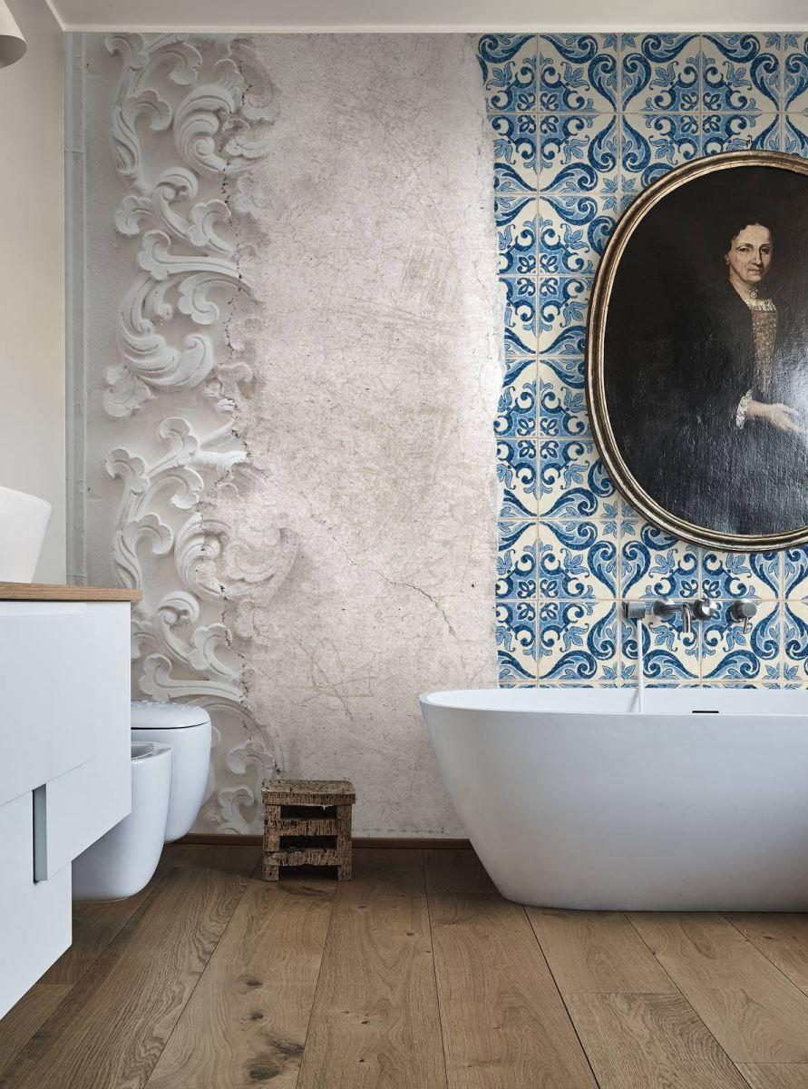Carta da parati in bagno - Carta da parati lavabile per bagno ...