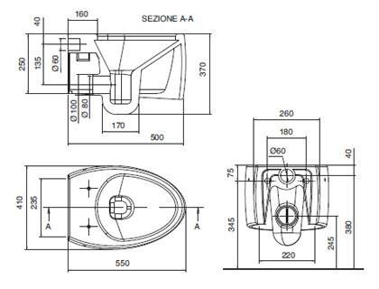 Dimensioni water sospeso termosifoni in ghisa scheda tecnica for Dimensioni water