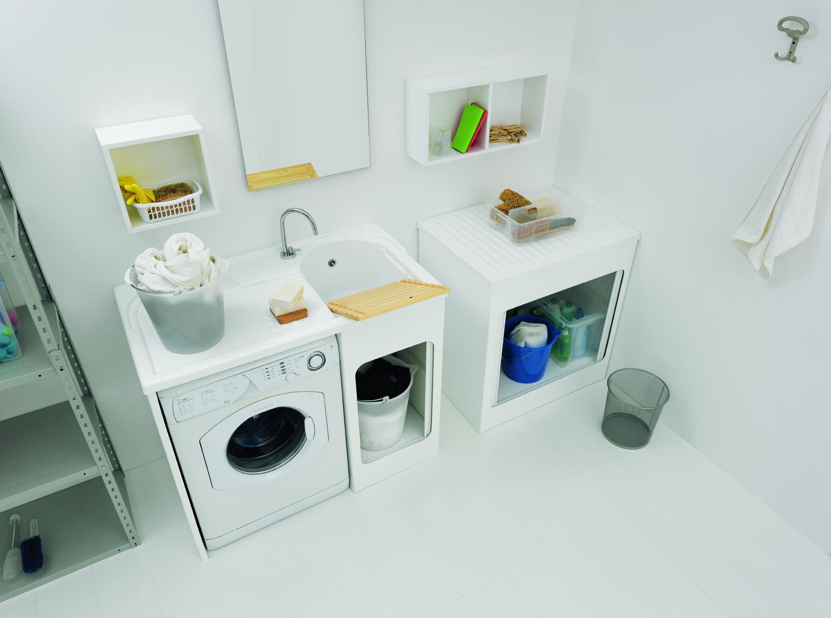 Mobile con lavabo e porta lavatrice 106x60x89 lavacril - Lavabo con mobile e prezzi ...