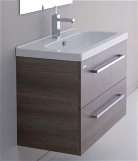 Mobile da bagno sospeso caffè con lavabo Minitrendy 71