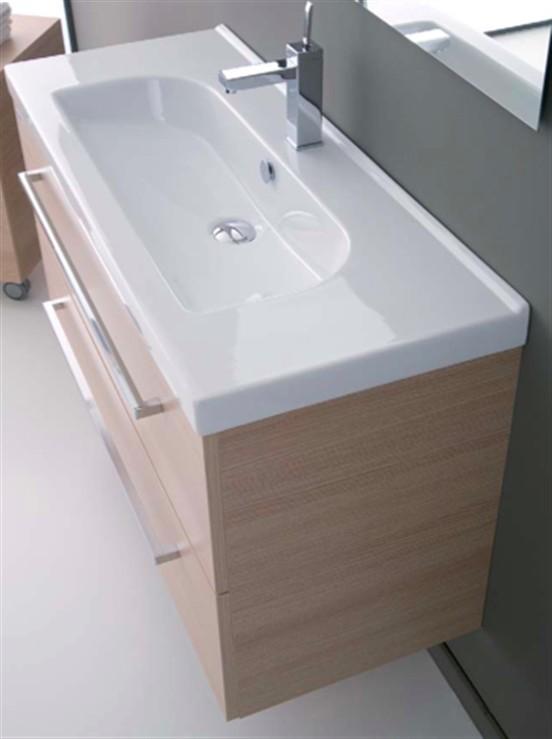 Mobile da bagno sospeso con lavabo minitrendy 81 - Lavandino bagno nero ...
