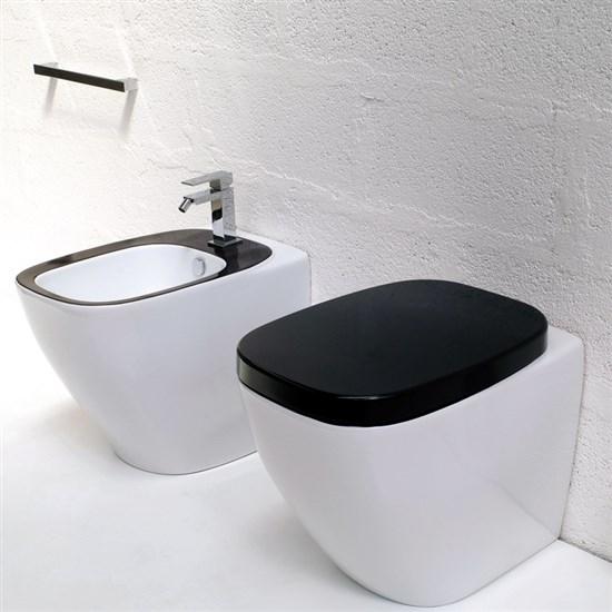 Sanitari a terra dial bicolore bianco nero - Sanitari bagno offerte ...
