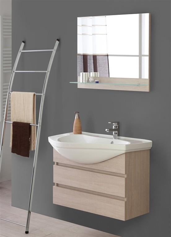 Composizione bagno rovere chiaro for Arredo bagno sardegna