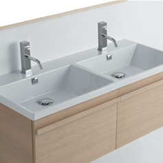 Lavabo 121 doppia vasca Tight