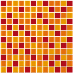 Mosaico Crystal 4 mix red orange