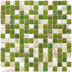 Mosaico Glass Classic mix gold grass