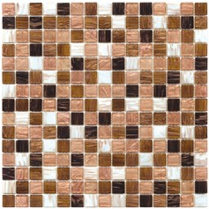Mosaico Glass Classic mix gold light brown