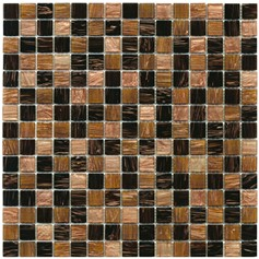Mosaico Glass Classic mix gold dark brown