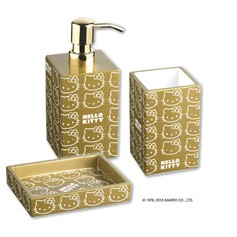 Set accessori bagno Hello Kitty Gold