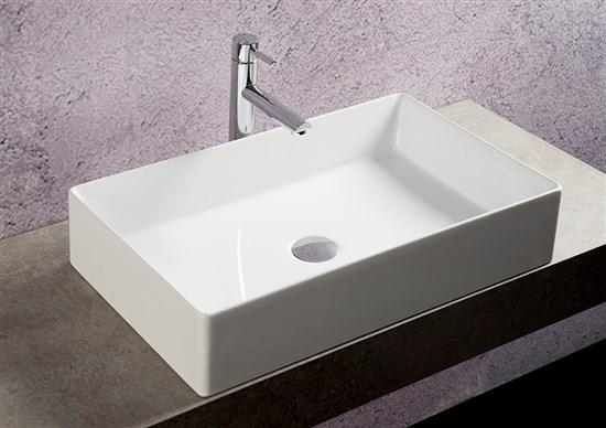 Lavabo appoggio rettangolare 64x38 cm niger - Lavelli da appoggio per bagno ...