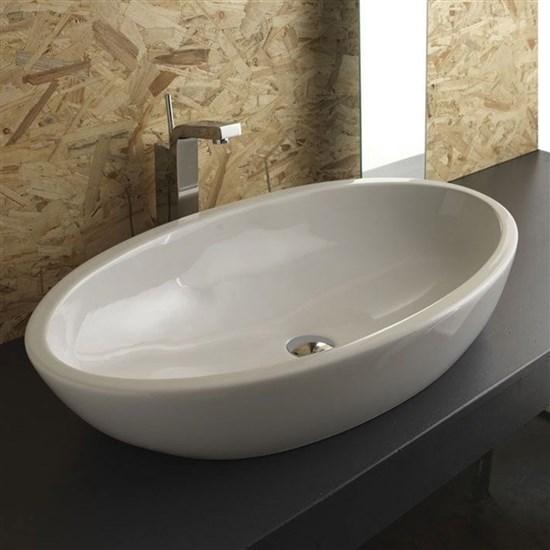 Lavabo appoggio 80 cm sfera for Prezzi lavabo bagno