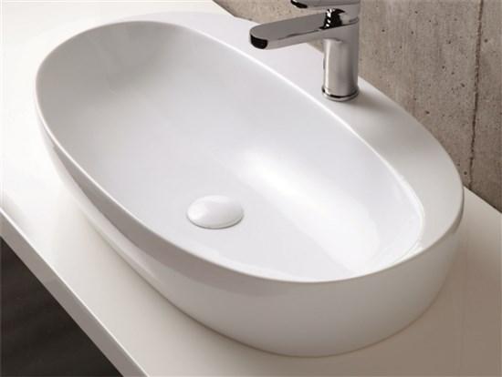 Lavandino da appoggio monoforo 70x42x14h cm - Lavandino da incasso bagno ...