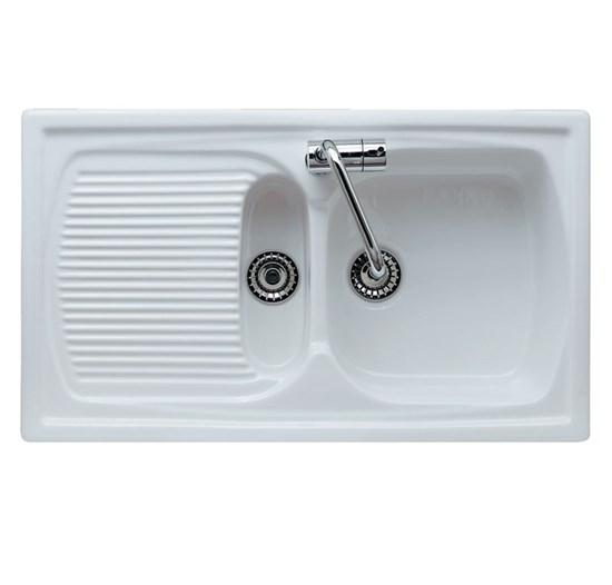 Lavello da incasso in ceramica genius 1v 1 2 - Accessori bagno in ceramica da incasso ...