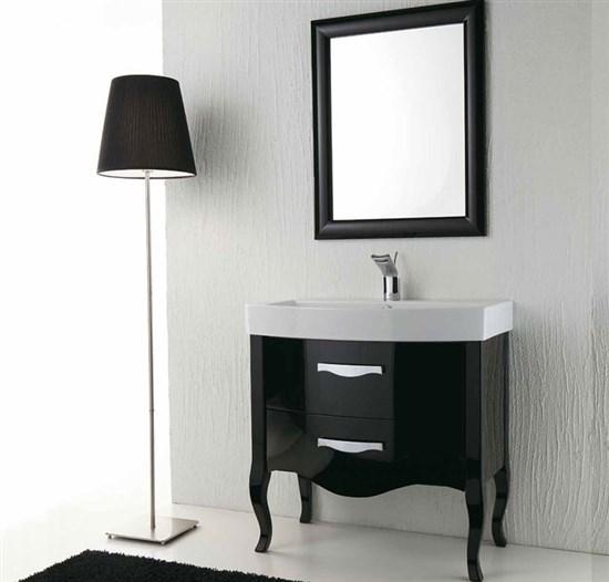 Arredo bagno nero lucido zeus - Mobile bagno nero lucido ...