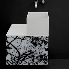 Mobile sospeso 60 Land con lavabo Box