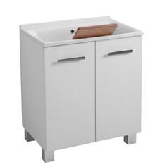Mobile lavanderia sospeso con lavatoio 80x42x60 buddy - Asciugatrice sopra lavatrice kit ikea ...