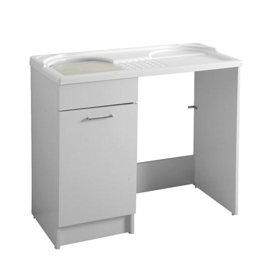 Mobile con lavatoio e porta lavatrice 106x60x89 duo - Porta lavatrice ikea ...