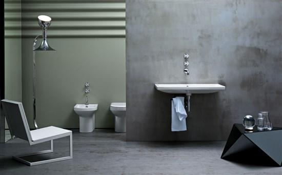Serie thin composta da sanitari e lavabo 90 cm - Costo sanitari bagno completo ...
