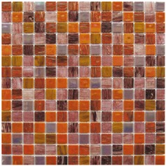 Mosaico Glass Classic mix Patchwork gold sunset