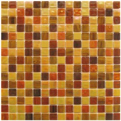Mosaico Glass Classic mix Patchwork tangerine