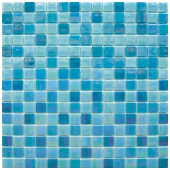 Mosaico glass classic mix reflex blu - Piastrelle mosaico bagno prezzi ...