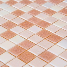 Mosaico Glass Classic mix Rosy Cotton
