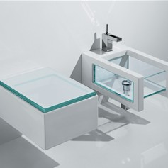 Sanitari bagno sospesi Glass