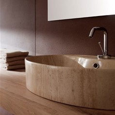 Lavabo Thin-Line Wind R Travertino