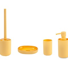 Set accessori per bagno True Colors giallo