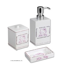 Set accessori bagno Hello Kitty  Strass-White