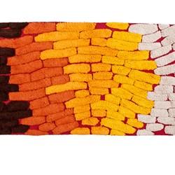 Tappeto da bagno Trace arancio 50x80