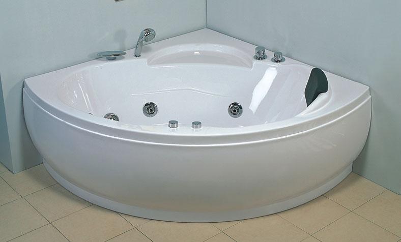 Vasca idromassaggio angolare 135 cm for Costi vasche da bagno