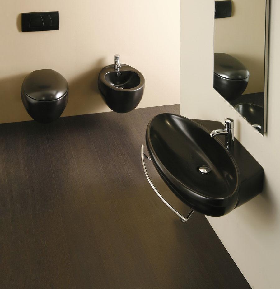Sanitari sospesi neri clas + lavabi sospesi