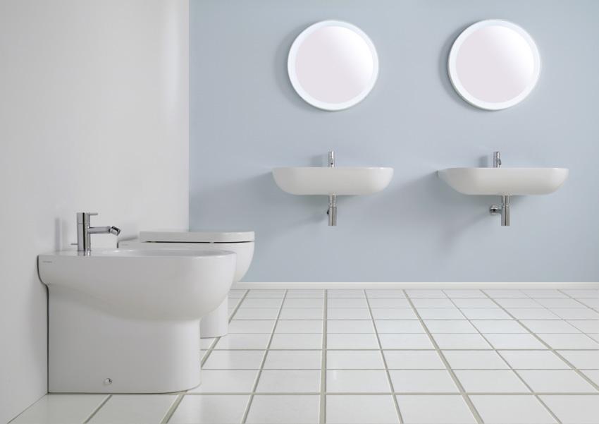 Lavabo bagno nuvola 75 sanitari filo muro - Costo sanitari bagno completo ...