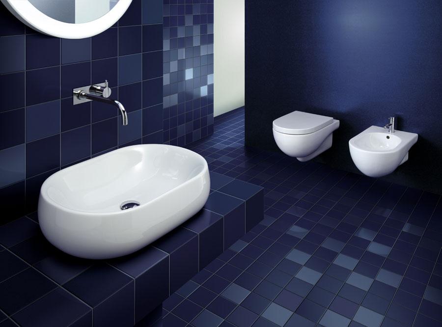 Sanitari sospesi + lavabo nuvola