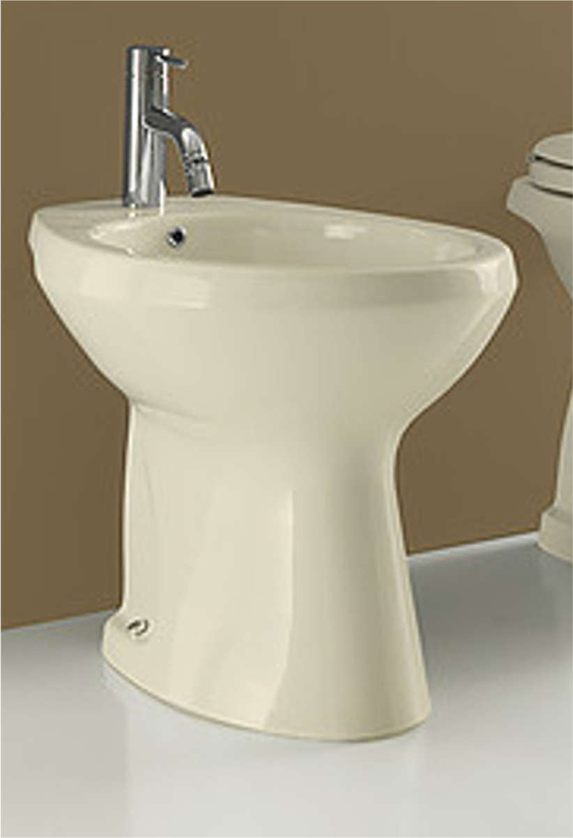 Bidet a terra champagne 39x53x41h cm for Wc colore champagne