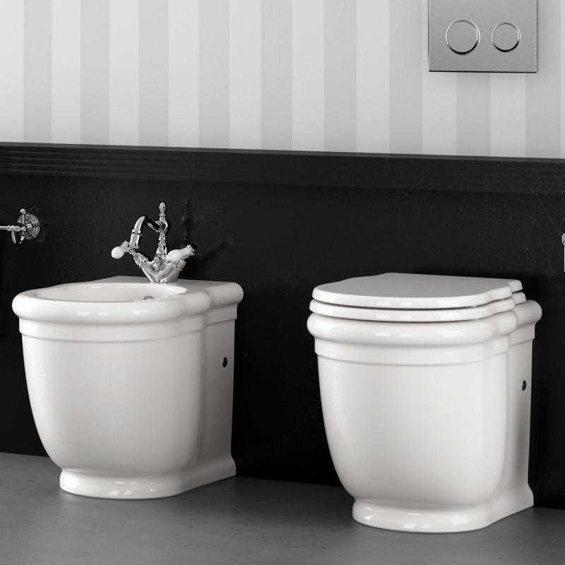 Sanitari bagni stile antico hermitage - Sanitari bagno filo muro ...