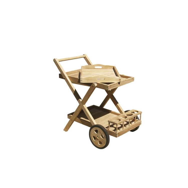 Carrello portavivande da esterno in legno di teak - Carrello portavivande da giardino ...