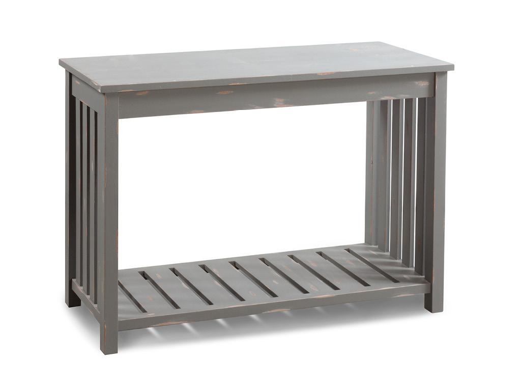 Consolle da bagno in legno grigio 110x40x75h cm