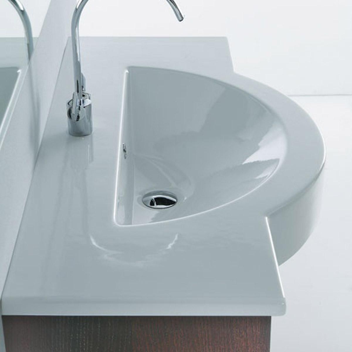 Lavabo A Consolle In Ceramica.Consolle In Ceramica 120 Cm Semincasso Fonte