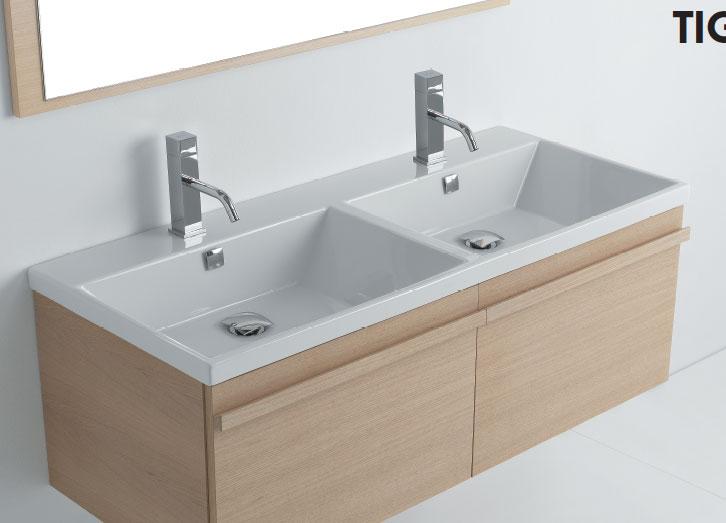 Lavabo 121 doppia vasca tight - Vasca da bagno doppia ...
