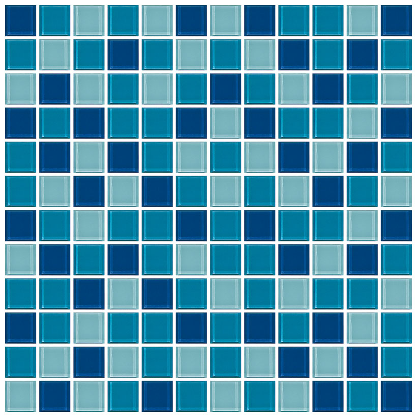 Mosaico Crystal 4 mix blu marine