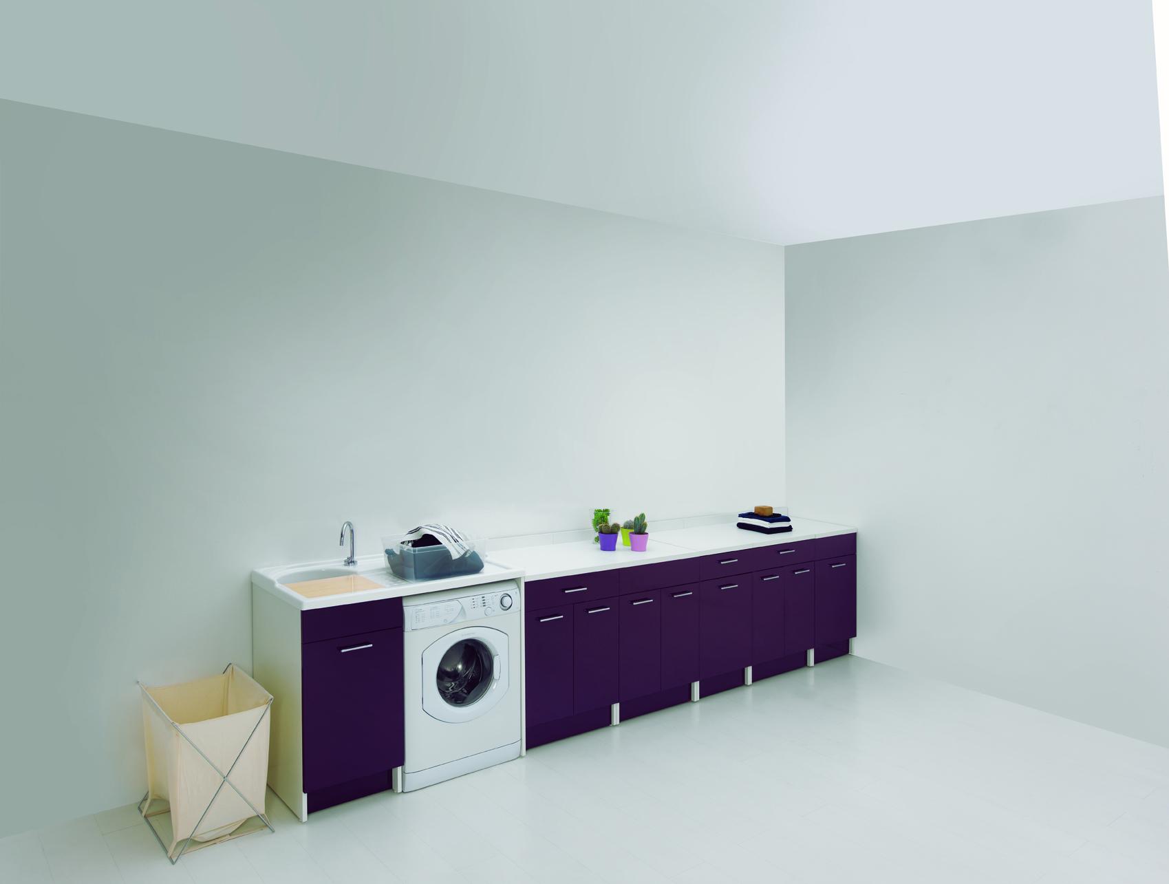 Mobile con lavatoio e porta lavatrice 106x60x89 duo