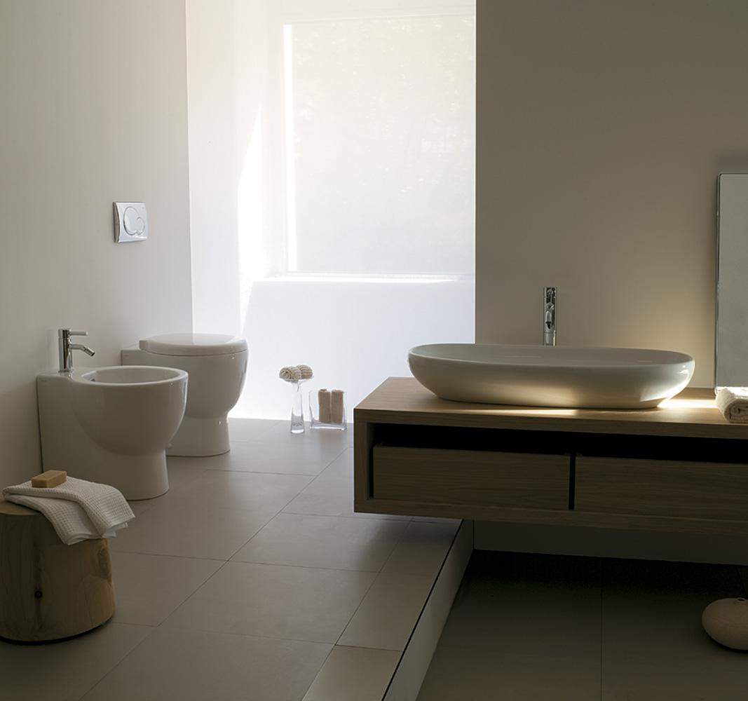 Sanitari bagno el1 2 lavabo appoggio - Sanitari da bagno prezzi ...