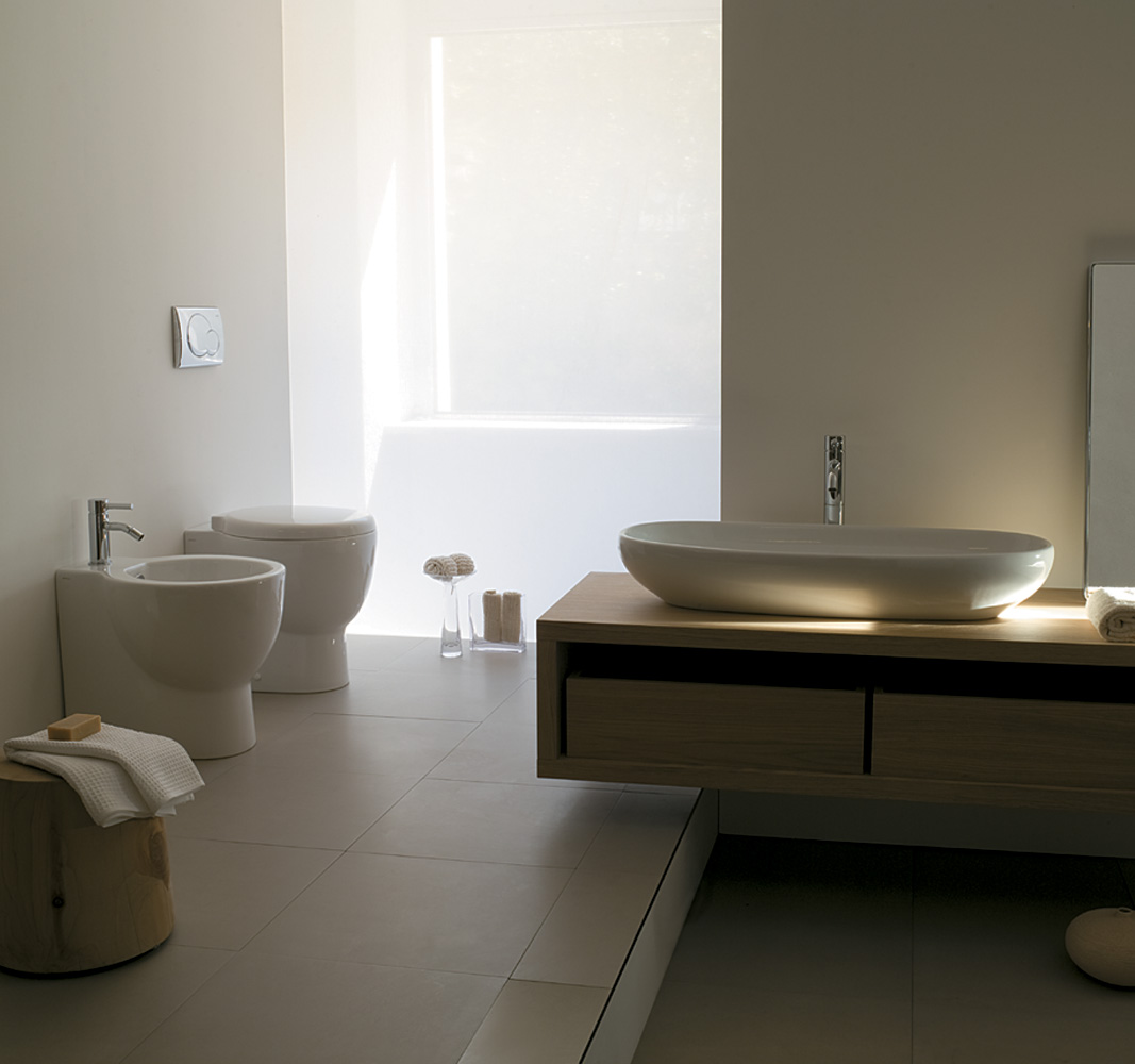 Sanitari bagno el1 2 lavabo appoggio for Sanitari bagno