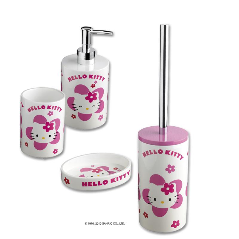 Accessori Bagno Hello Kitty.Set Accessori Bagno Hello Kitty Flower