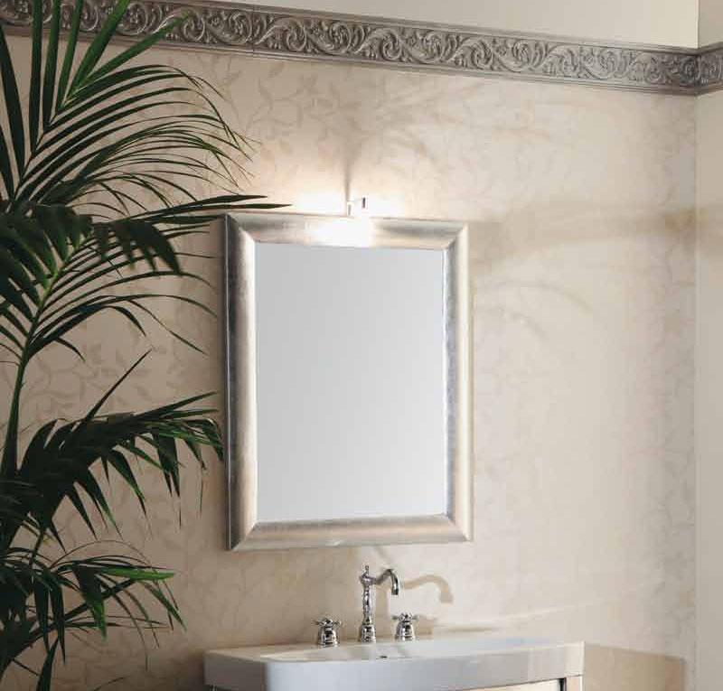 Specchio foglia argento crunch idee per il design della casa for Bagno d argento