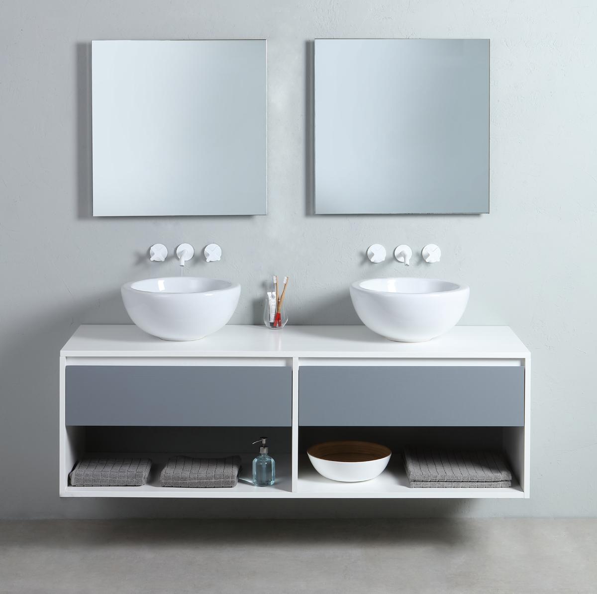 Mobile bagno sospeso frame - Arredo bagno sospeso ...