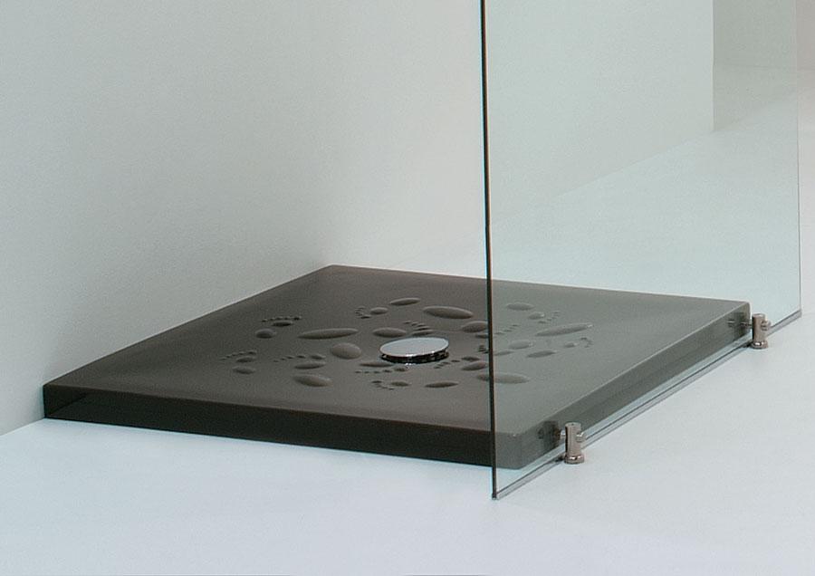 Piatto doccia orme nero lucido - Box doccia colorati ...